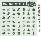 online video  media  education  ...   Shutterstock .eps vector #353988866