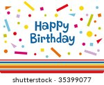 vector birthday card design | Shutterstock .eps vector #35399077