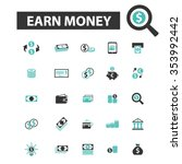 earn money  payment  online... | Shutterstock .eps vector #353992442