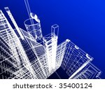 abstract modern architecture | Shutterstock . vector #35400124