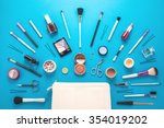 beautiful make up bag with... | Shutterstock . vector #354019202