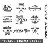 set of cinema labels. elements... | Shutterstock .eps vector #354021776