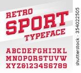 beveled alphabet vector font.... | Shutterstock .eps vector #354022505