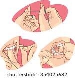 flossing   Shutterstock .eps vector #354025682