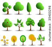 tree icons   Shutterstock .eps vector #35403298