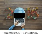 2016 new year business... | Shutterstock . vector #354038486