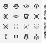 military symbol icons . vector .... | Shutterstock .eps vector #354039206
