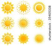 sun set. | Shutterstock .eps vector #35405338