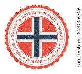 grunge rubber stamp with norway ... | Shutterstock .eps vector #354056756