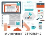 illustration of online job... | Shutterstock .eps vector #354056942