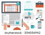 illustration of online job... | Shutterstock .eps vector #354056942
