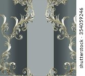 baroque pattern with stripe... | Shutterstock .eps vector #354059246