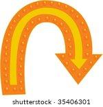 illustration of arrow on white | Shutterstock .eps vector #35406301