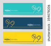 abstract creative concept... | Shutterstock .eps vector #354078206