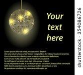 disco ball black background | Shutterstock .eps vector #354086726