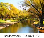 the beautiful park with the... | Shutterstock . vector #354091112
