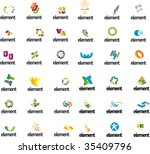 design symbols set. part 11 | Shutterstock .eps vector #35409796
