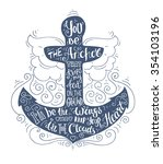 blue doodle typography marine...   Shutterstock .eps vector #354103196