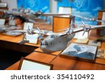Small photo of MOSCOW, RUSSIA - JUN 21, 2014: Exhibition of civil and military aircraft. Model all-metal amphibian aircraft ANT-44 (MTB-2). Tupolev Museum.