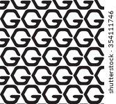 black and white geometric... | Shutterstock .eps vector #354111746