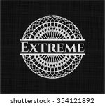 extreme written on a chalkboard   Shutterstock .eps vector #354121892