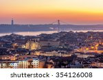 sunset with orange tones from... | Shutterstock . vector #354126008