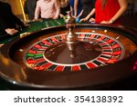 Green Roulette Table With...