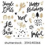 christmas calligraphy phrases.... | Shutterstock .eps vector #354140366
