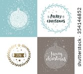christmas and new year cards... | Shutterstock . vector #354146852