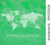 vector communication  global...   Shutterstock .eps vector #354153326