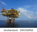 offshore wellhead platform in... | Shutterstock . vector #354156962
