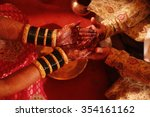 wedding at the indian ceremony   Shutterstock . vector #354161162