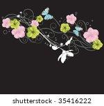 illustration of a floral...