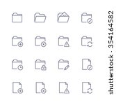 multimedia icons | Shutterstock .eps vector #354164582