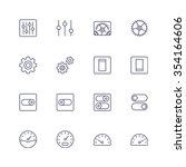 multimedia icons   Shutterstock .eps vector #354164606