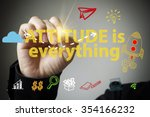 hand drawing and writing ... | Shutterstock . vector #354166232