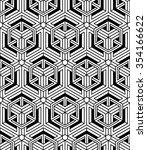 illusive continuous monochrome... | Shutterstock .eps vector #354166622