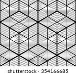 monochrome illusory abstract... | Shutterstock .eps vector #354166685