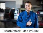 auto repair service. handsome... | Shutterstock . vector #354193682