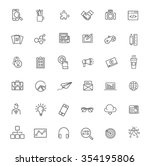 marketing icons set | Shutterstock .eps vector #354195806