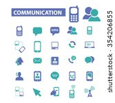 communication  connection ... | Shutterstock .eps vector #354206855