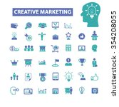 creative marketing  icons ... | Shutterstock .eps vector #354208055