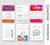 brochure design template set.... | Shutterstock .eps vector #354209372