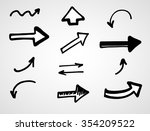 hand drawn arrows  vector set | Shutterstock .eps vector #354209522