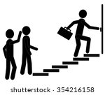 people moving up the steps to... | Shutterstock .eps vector #354216158