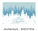 winter forest  vector  snowy... | Shutterstock .eps vector #354217916