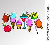 ice cone vector snack summer...   Shutterstock .eps vector #354220088