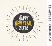 handmade style greeting card  ... | Shutterstock .eps vector #354229496