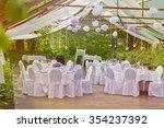romantic outdoor wedding in the ... | Shutterstock . vector #354237392
