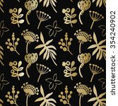 seamless pattern with golden... | Shutterstock .eps vector #354240902